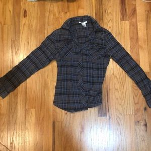 Flannel blue black and grey